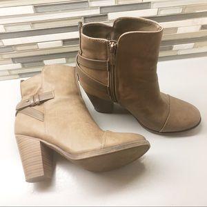 Breckelles brown booties. Size 8